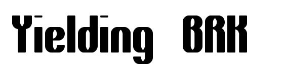 Yielding BRK Font