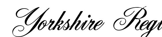 Yorkshire Regular Font, Elegant Fonts