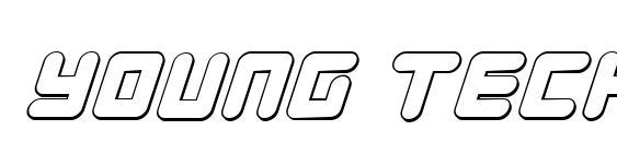 Young Techs 3D Italic Font, Sans Serif Fonts
