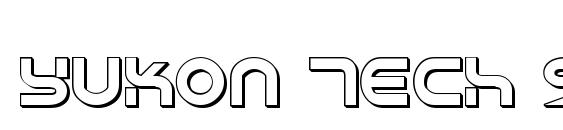 Yukon Tech Shadow Font
