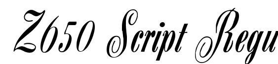 Z650 Script Regular Font, Elegant Fonts