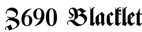 Z690 Blackletter Bold Font, Retro Fonts