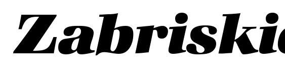 ZabriskieBook Heavy Italic Font