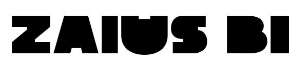 Zaius Block Font