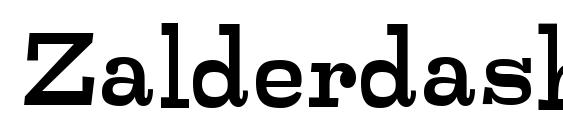 Zalderdash Regular Font, Handwriting Fonts