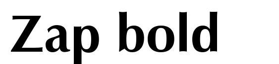 Zap bold Font
