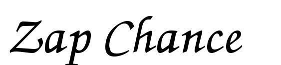 Zap Chance Font