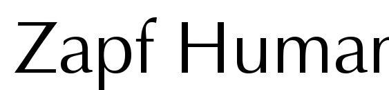 Details of Zapf Humanist BT font