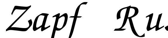 Zapf Russ Italic Font, Retro Fonts