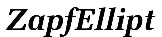 ZapfEllipt BT Bold Italic Font