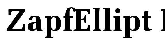 ZapfEllipt BT Bold Font