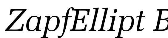 ZapfEllipt BT Italic Font