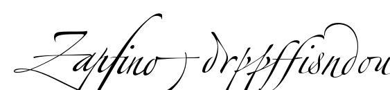 ZapfinoExtraLT Ligatures Font, Elegant Fonts