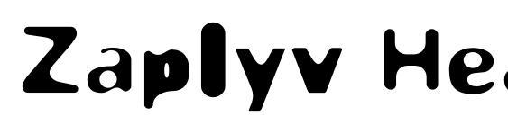 Zaplyv Heavy Font, Sans Serif Fonts