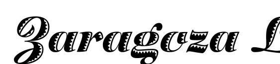Шрифт Zaragoza LET Plain.1.0