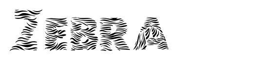 Zebra Font, Fun Fonts