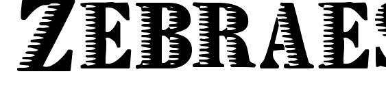 Zebraesq Font, Monogram Fonts