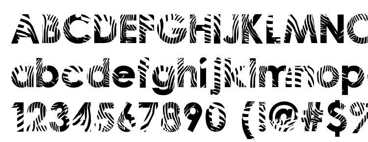 глифы шрифта Zeebraa, символы шрифта Zeebraa, символьная карта шрифта Zeebraa, предварительный просмотр шрифта Zeebraa, алфавит шрифта Zeebraa, шрифт Zeebraa