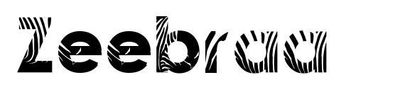 шрифт Zeebraa, бесплатный шрифт Zeebraa, предварительный просмотр шрифта Zeebraa