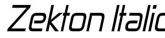 Zekton Italic Font, Elegant Fonts