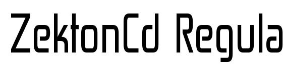 ZektonCd Regular Font, Sans Serif Fonts