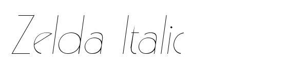 Zelda Italic Font, Handwriting Fonts