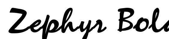Zephyr Bold Font