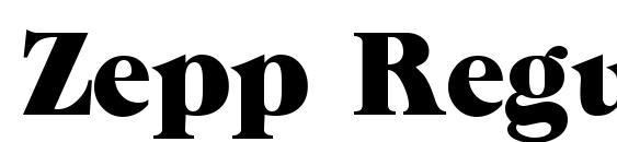 Zepp Regular DB Font