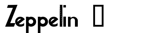 Zeppelin 2 Font, Fun Fonts
