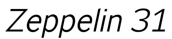 Zeppelin 31 Italic Font