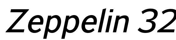 Zeppelin 32 Italic Font