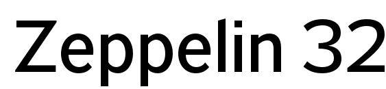 Zeppelin 32 Font