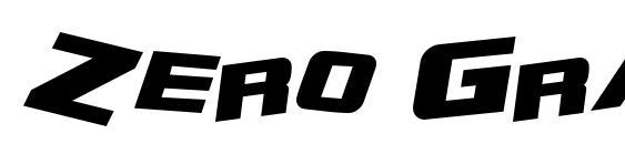 Zero Gravity Extended Bold Italic Font