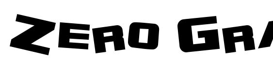 Zero Gravity Extended Bold Font