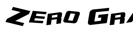 Zero Gravity Extended Italic Font