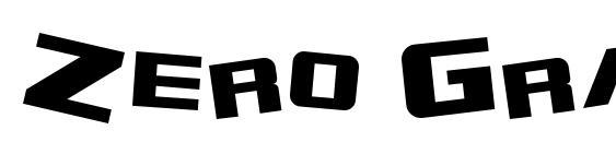 Zero Gravity Extended Font