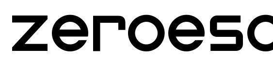 ZeroesOne Regular Font