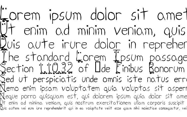 specimens Zhang QA font, sample Zhang QA font, an example of writing Zhang QA font, review Zhang QA font, preview Zhang QA font, Zhang QA font