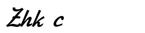 Zhk c Font