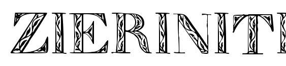 Шрифт Zierinitialen1, Шрифты для монограмм