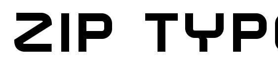 Zip Typeface Bold Font