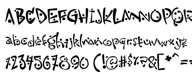 glyphs Zitcream font, сharacters Zitcream font, symbols Zitcream font, character map Zitcream font, preview Zitcream font, abc Zitcream font, Zitcream font