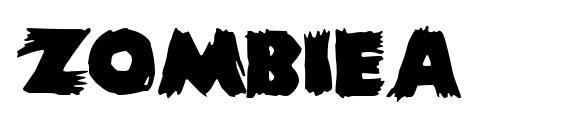 ZombieA Font, Sans Serif Fonts