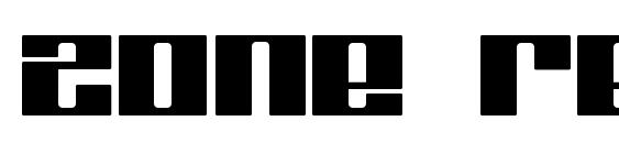 Zone regular Font