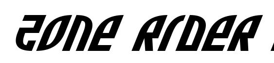 Zone Rider Exp Italic Font
