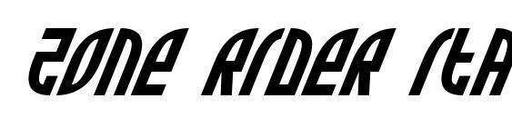 Zone Rider Italic Font
