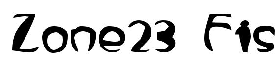Zone23 FishEye Font, Fun Fonts
