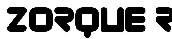 Zorque Regular Font