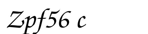 шрифт Zpf56 c, бесплатный шрифт Zpf56 c, предварительный просмотр шрифта Zpf56 c