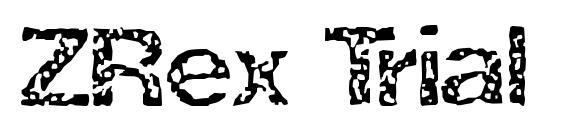 Шрифт ZRex Trial Version